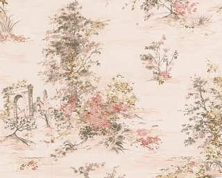 A.S. Création Wallpaper «Cottage, Cream, Grey, Red» 304292