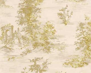 A.S. Création papier peint «Maison, beige, crème, métallique, or» 304293