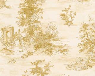 A.S. Création papier peint «Maison, crème, métallique, or» 304294