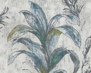 MICHALSKY LIVING Wallpaper «Floral, Beige, Green, Grey» 304561