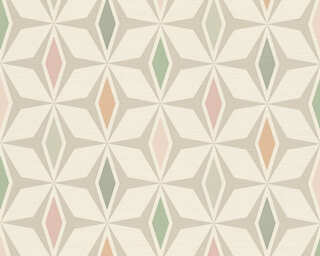 A.S. Création Wallpaper «Graphics, Green, Grey, White» 304762