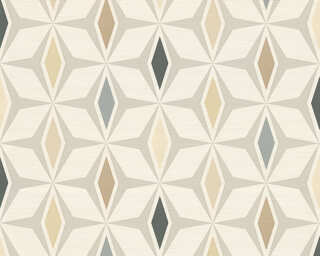 A.S. Création Wallpaper «Graphics, Brown, Grey, White» 304763