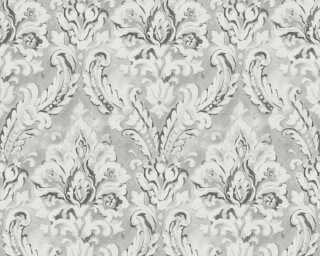 A.S. Création papier peint «Baroque, gris, métallique, noir» 304945