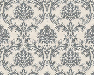 A.S. Création Wallpaper «Baroque, Black, Cream, Metallic» 305045