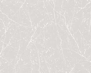 Livingwalls Vliestapete «Floral, Grau, Metallics, Weiß» 305071