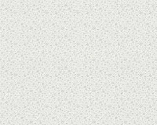 A.S. Création Wallpaper «Cottage, Flowers, Grey, Metallic, Silver, White» 305253