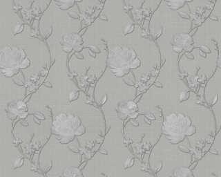 ORIGINALS papier peint «Floral, argent, gris, métallique» 305386
