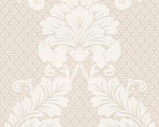 Architects Paper Wallpaper «Baroque, Cream, Metallic, Silver» 305441
