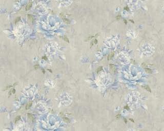 ORIGINALS papier peint «Floral, bleu, gris, métallique» 305653