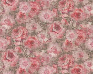 A.S. Création Tapete «Blumen, Braun, Metallics, Rot, Silber» 305672