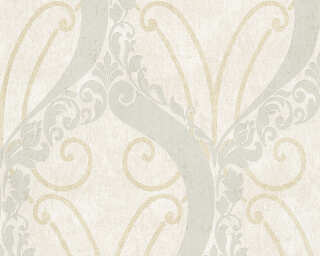 Lutèce papier peint «Baroque, beige, métallique, or, turquoise» 305862