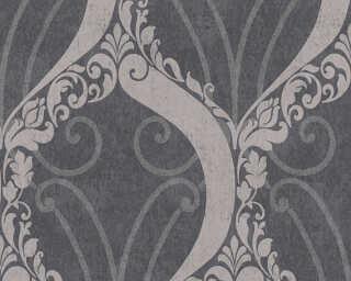 Lutèce papier peint «Baroque, argent, métallique, noir» 305864