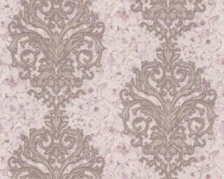 A.S. Création papier peint «Floral, blanc, bronze, métallique, or» 305943