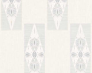 A.S. Création Wallpaper «Baroque, Cream, Grey, Metallic, Silver» 306391