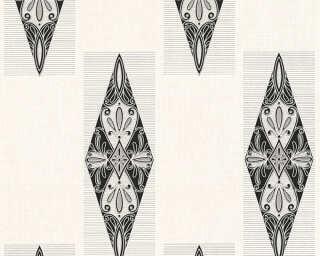 A.S. Création Wallpaper «Baroque, Black, Cream, Metallic, Silver» 306392