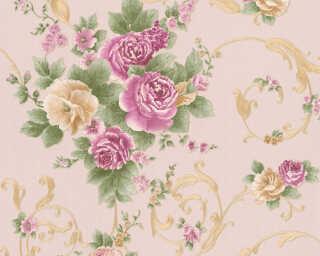 A.S. Création Wallpaper «Flowers, Gold, Green, Metallic, Purple» 306475