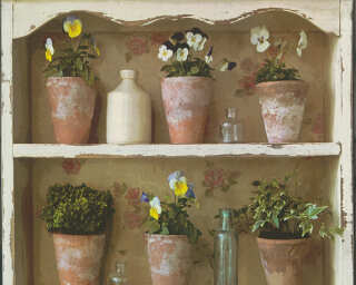 A.S. Création Wallpaper «Cottage, Flowers, Brown, Coloured» 306481