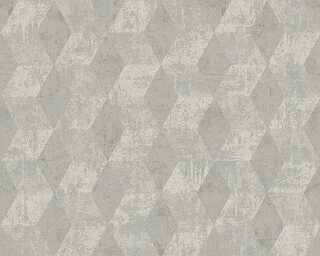 Livingwalls Wallpaper «Graphics, Grey, Metallic, Silver» 306542