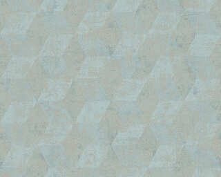 Livingwalls Wallpaper «Graphics, Beige, Blue, Metallic, Silver» 306543