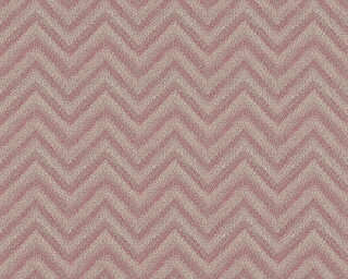 Lutèce Wallpaper «Fabric, Grey, Red» 306551
