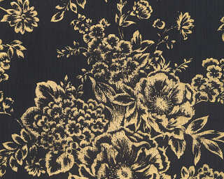 Architects Paper Wallpaper «Uni, Black, Gold, Metallic» 306577