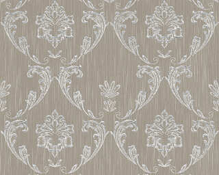 Architects Paper Wallpaper «Uni, Brown, Metallic, Silver» 306583