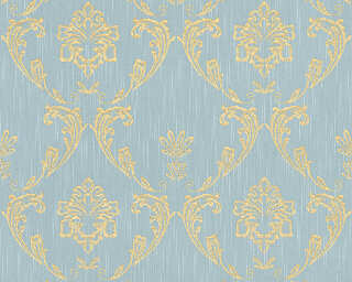 Architects Paper Wallpaper «Uni, Blue, Gold, Green, Metallic» 306586