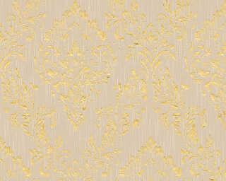 Architects Paper Wallpaper «Uni, Beige, Gold, Metallic» 306592