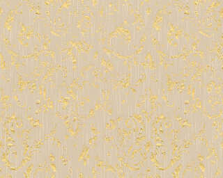 Architects Paper Wallpaper «Uni, Beige, Gold, Metallic» 306602