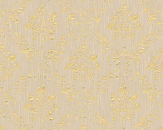 Architects Paper Wallpaper «Uni, Beige, Metallic» 306624