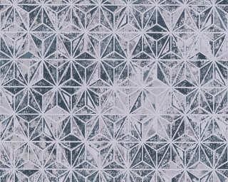 Lutèce Обои «Графика, Металлик, Серебро, Серыe, Синие» 307056