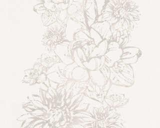Lutèce Обои «Цветы, Кремовые, Серыe» 307063
