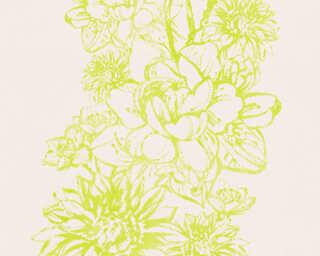 Lutèce Wallpaper «Flowers, Cream, Green» 307065