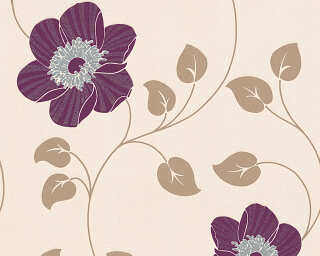 A.S. Création Tapete «Grafik, Creme, Metallics, Violett» 307151