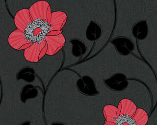 A.S. Création Wallpaper «Graphics, Black, Metallic, Red» 307153
