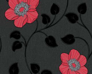 A.S. Création papier peint «Graphique, métallique, noir, rouge» 307153