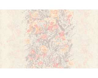 ORIGINALS Tapete «Blumen, Grau, Metallics, Rot, Silber» 307195