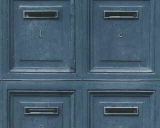 A.S. Création papier peint «Bois, bleu, noir» 307454