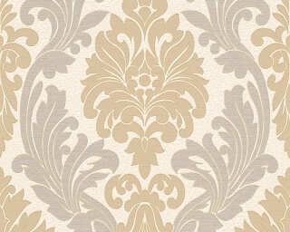 A.S. Création Wallpaper «Baroque, Cream, Gold, Green, Metallic» 307543