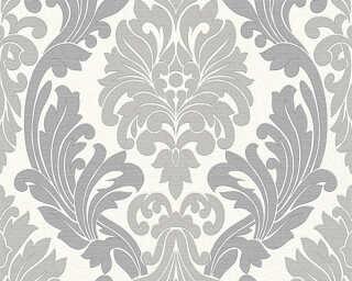 A.S. Création papier peint «Baroque, argent, blanc, gris, métallique» 307544