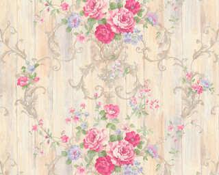 ORIGINALS Обои «Деревенский стиль, Цветы, Бежевые, Металлик, Разноцветные» 307571
