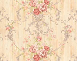 ORIGINALS Обои «Деревенский стиль, Цветы, Бежевые, Красные, Металлик» 307573