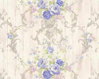 ORIGINALS Обои «Деревенский стиль, Цветы, Белые, Металлик, Фиолетовые» 307574
