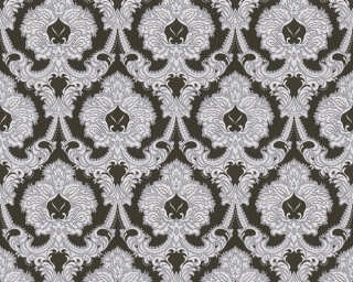 A.S. Création Wallpaper «Baroque, Black, Metallic, Silver, White» 310347