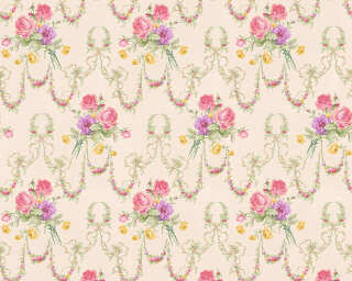ORIGINALS Wallpaper «Floral, Beige, Pink, Purple» 312815
