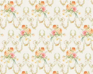 ORIGINALS Wallpaper «Floral, Cream, Orange, Red» 312839