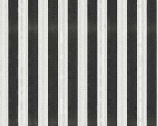 A.S. Création Wallpaper «Stripes, Black, White» 315151