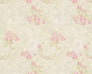 ORIGINALS Обои «Деревенский стиль, Цветы, Зеленые, Кремовые, Розовые» 318705