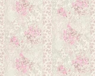 ORIGINALS Обои «Полосы, Цветы, Белые, Коричневыe, Розовые» 318712
