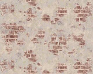 ORIGINALS papier peint «Maison, gris, marron, métallique, or» 318763